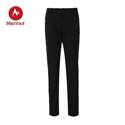 Marmot/土撥鼠女款秋冬戶外運動防潑水防風透氣M3軟殼褲