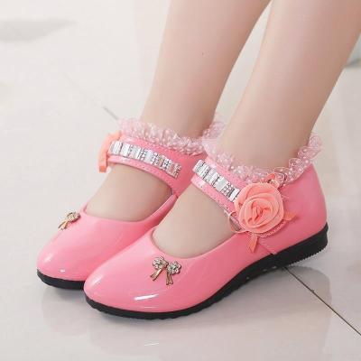 邁凱恩品牌女童鞋中大童一腳蹬公主鞋透氣兒童皮鞋防滑小童鞋子學生四季單鞋