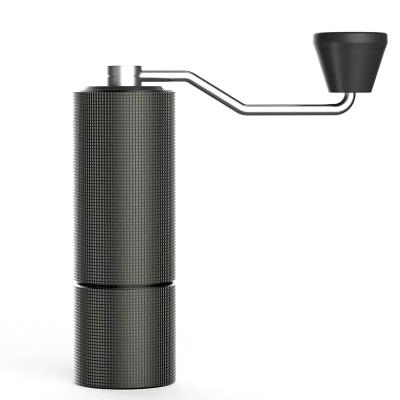 手搖咖啡磨豆機 家用咖啡機隨行磨豆機器具 雙軸承定位 格子紋黑(預售4月上旬)