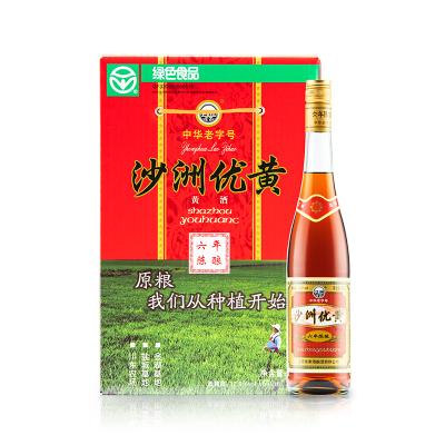 沙洲優黃 六年陳釀 大容量黃酒670ml*6 整箱裝