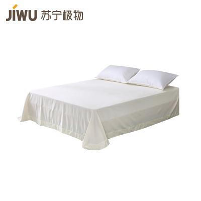蘇寧極物 300根親膚水洗棉全棉貢緞床單