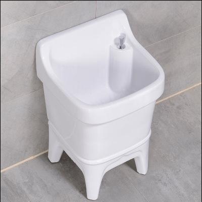 拖把池阳台卫生间陶瓷小号洗拖布池大码方形墩布池台控自动下水槽