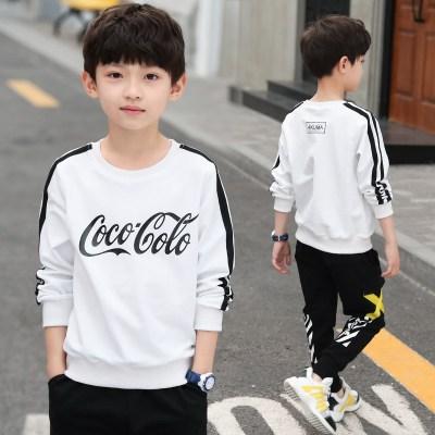6童装男童长袖T恤春装新款中大童洋气卫衣男孩运动春秋款上衣