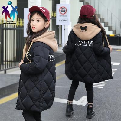 【厂家直营】女童羽绒棉服2019新款棉袄冬装外套中大童儿童韩版中长款棉衣加厚