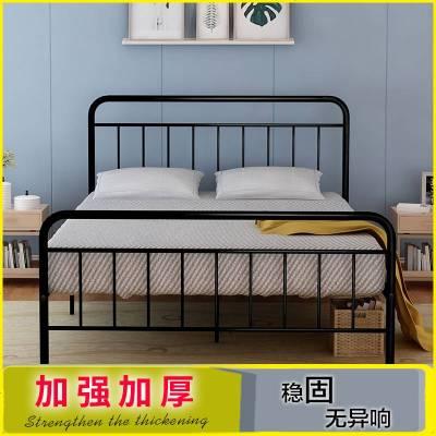 欧式铁艺床公主铁床单人双人床成人美式铁架床1.8简约现代1.5米