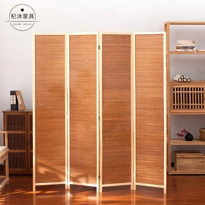杞沐家簡易屏風隔斷墻折屏玄關折疊移動客廳簡約現代竹編屏障簾擋床