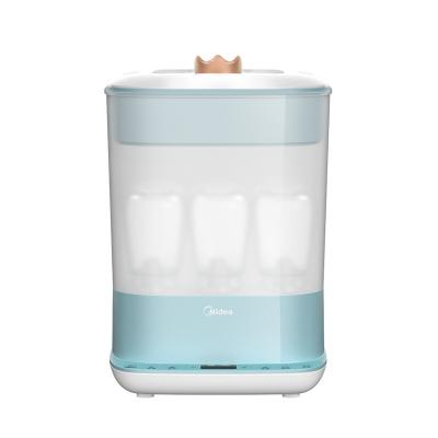 美的(Midea)婴儿宝宝奶瓶消毒带烘干器消毒锅柜机煮锅收纳箱盒蒸汽消毒MYXE203皇冠蓝精灵