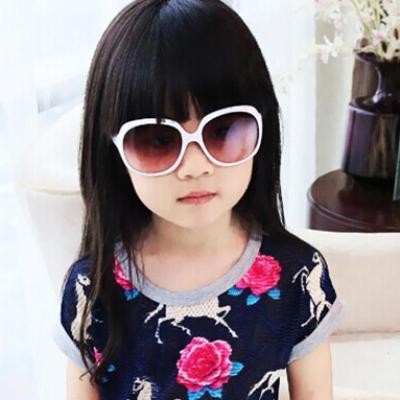中大童太阳镜 韩版大框学生复古太阳镜 百搭男童女童防紫外线墨镜