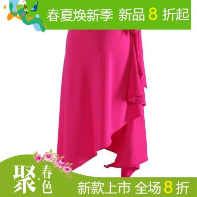 拉丁舞裙新款 拉丁舞蹈服装 专业练功短裙成人女式三角巾