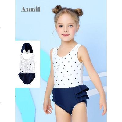 安奈儿童装女童可爱泳衣夏季新款小女孩连体三角韩版泳衣温泉