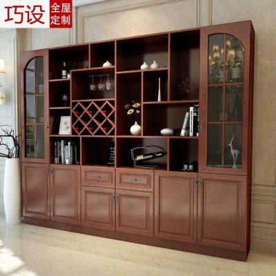 客厅现代酒柜定制装饰柜酒格玄关柜定做整体隔断酒柜餐边柜组合柜