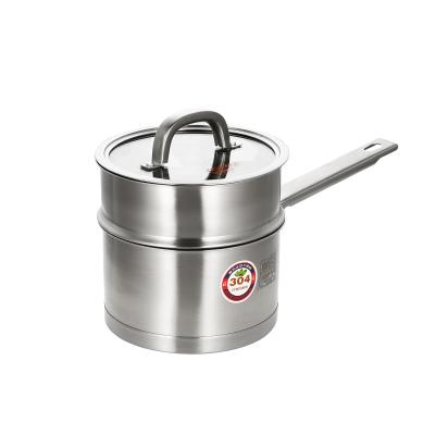 炊大皇(COOKER KING)欧式304不锈钢奶锅NG16OS蒸煮两用