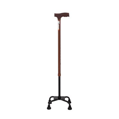 佛山东方(AUFU)四脚拐杖FS934老人拐杖助行拐棍四脚拐杖防滑加厚铝合金拐杖高度可调