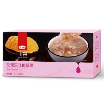 燕之坊藕粉羹 玫瑰銀耳羹 水果紅棗代餐粉 沖飲速溶即食早餐粉小袋裝420g