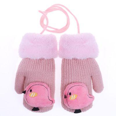 冬季兒童保暖手套卡通可愛加厚男童公主女童寶寶小孩手套莎丞