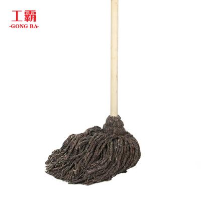 工霸(GONGBA)老式木柄拖把 加厚小灰棉线木杆拖把墩布拖布(10把)