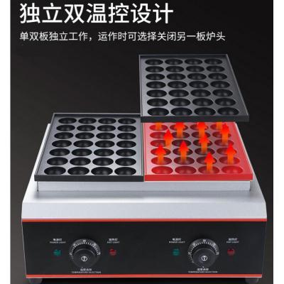 章魚小丸子機商用古達擺攤電熱燃氣魚丸爐家用章魚燒燒機雙板烤盤鵪鶉