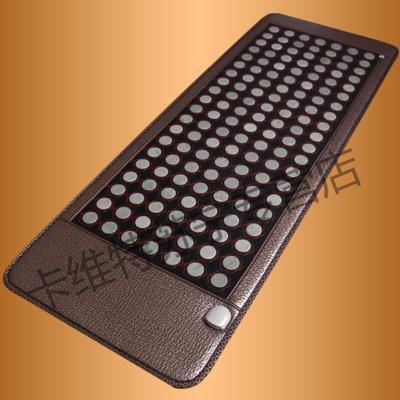 麥飯石遠紅外線單人托瑪琳赭鍺石電加熱院磁理療保暖玉石床墊頂尚威廉