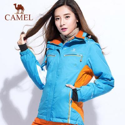 CAMEL/骆驼户外女款滑雪服冬季保暖防风户外露营登山