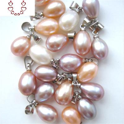 天然淡水珍珠吊墜項鏈正品單顆圓形水滴百搭鎖骨鏈頸鏈女 Chunmi