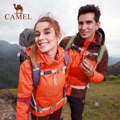 CAMEL駱駝戶外沖鋒衣 情侶款男女防風透氣抓絨保暖兩件套三合一沖鋒衣
