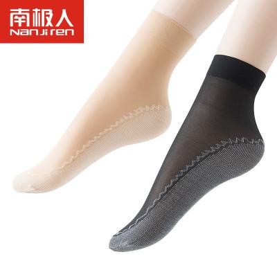 南極人NanJiren【10雙袋裝】春季棉底防滑吸汗短襪女士薄款中筒絲襪防勾絲襪子T4004
