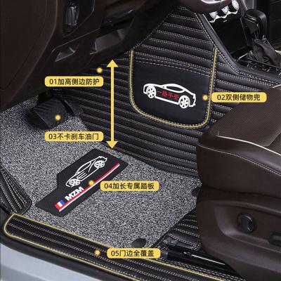 静航(Static route)汽车脚垫单层脚垫 新能源汽车大包围 包门槛脚垫 全包围汽车丝圈脚垫