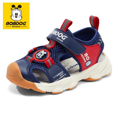 BOBDOG HOUSE巴布豆童鞋兒童涼鞋2020夏季男童機能鞋子夏天女童寶寶休閑沙灘鞋8657