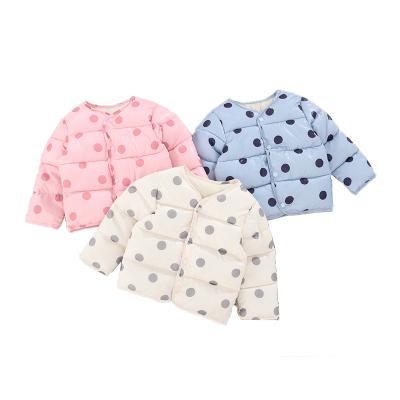 安麗虎尼童裝圓點棉內膽嬰幼兒冬季保暖外套兒童男女童棉服內膽90-130cm