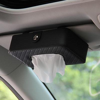靜航(Static route)廠家直銷 新款汽車紙巾包 車載擋陽板紙巾盒車用紙巾盒汽車收納盒