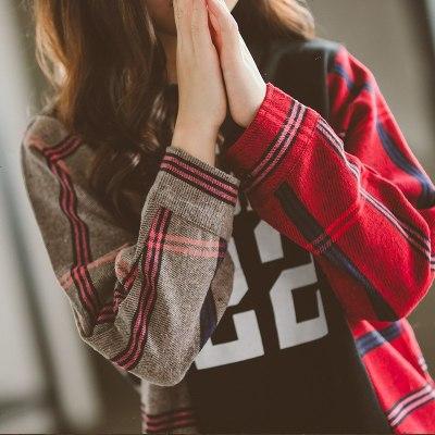 女童卫衣2019春秋新款韩版童装儿童拼接卫衣中大童休闲T恤打底衫