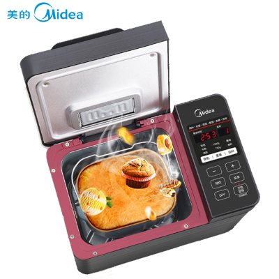 美的(Midea)TLS2010多功能面包機 全自動撒酵母果料 自動和面機 DIY烹飪 其他 面包機 支持輔料自動投放