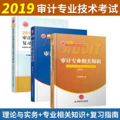 2019初级中级审计师考试教材科目一二+复习指南(全套3本)初中级审计师考试用书