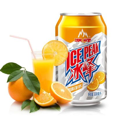 冰峰(ICE PEAK)汽水饮料陕西特产330ml*6罐装橙味汽水碳酸饮料老汽水 果味含糖饮料