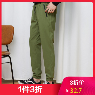 【1件3折價:32.7】美特斯邦威休閑褲男春季男裝時尚運動束腳褲子男小腳長褲