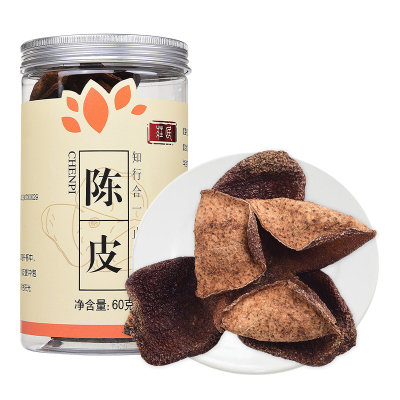 莊民(zhuang min) 陳皮60g/罐 正宗新會老陳皮干茶 花草茶 橘皮 廣東干桔子皮泡陳皮酒