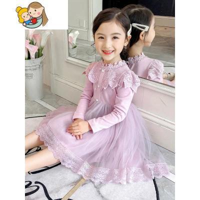 女童春裝連衣裙子2019新款9歲韓版12兒童裝8公主裙女大童洋氣紗裙