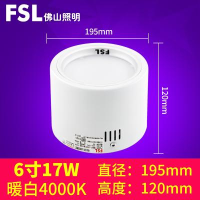 FSL брэндийн таазны гэрэл бөөрөнхий хэлбэртэй  17W цагаан өнгө