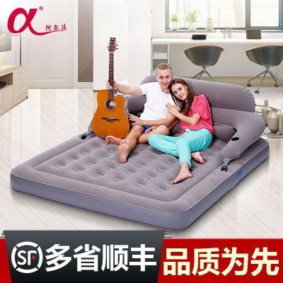 杞沐靠背充气床 家用双人加大气垫床户外便携折叠午休床