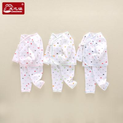 龍之涵嬰兒衣服純棉新生兒套裝和尚服初生男女寶寶滿月上衣褲子