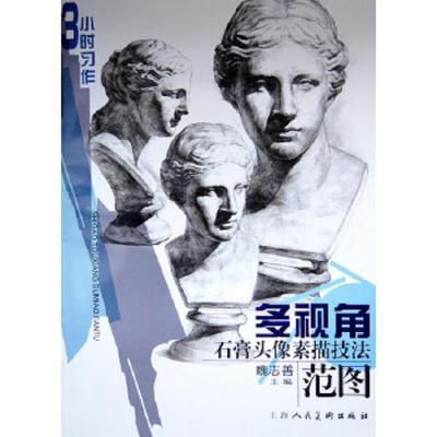 正版 3小時習作:多視角石膏頭像素描技法范圖/魏志善編/上海人民