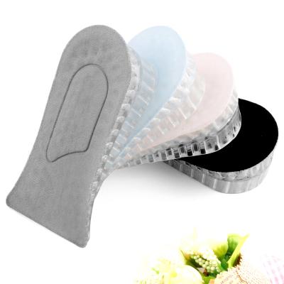 內增高鞋墊加厚隱形透氣休閑鞋運動鞋墊透明硅膠增高墊半墊男女式