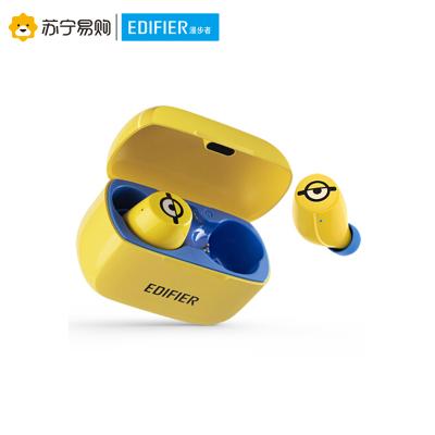 Edifier/漫步者 W3小黄人真无线蓝牙耳机迷你运动防水通话入耳式