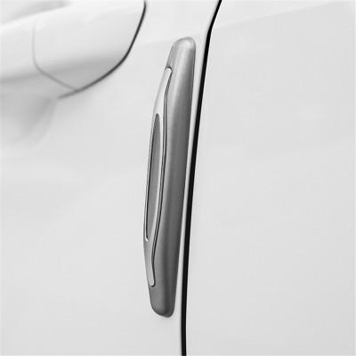 華飾 汽車車門防撞膠條車門防撞條車身防撞貼通用型車邊角防刮防擦磕膠條汽車用品 銀色
