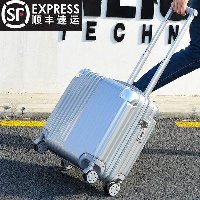 【苏宁易购|厂家直营】|迷你登机箱18寸行李箱包女士24小型旅行箱子商务拉杆箱男20寸韩版