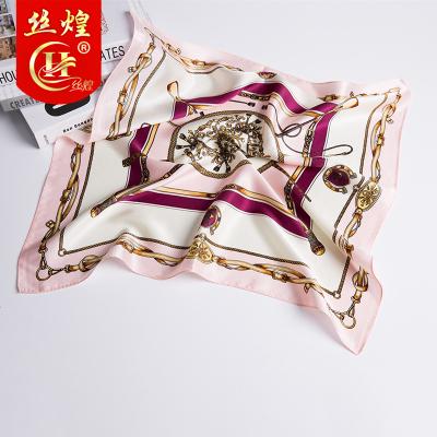 絲煌真絲小方巾100%桑蠶絲職業女薄百搭高檔絲巾春秋杭州絲綢圍巾