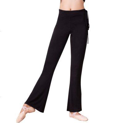 舞蹈裤女成人长裤训练健美瑜伽黑色莫代尔直筒微喇形体练功服裤子