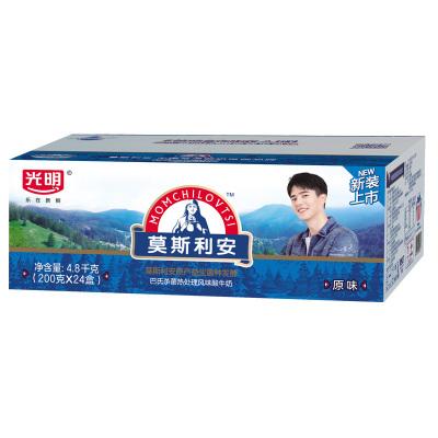光明莫斯利安原味酸牛奶 原味酸奶 家庭装200g*24盒装