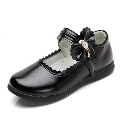 童鞋女童皮鞋黑色公主鞋2019春秋鞋新款小學生兒童單鞋軟底演出鞋