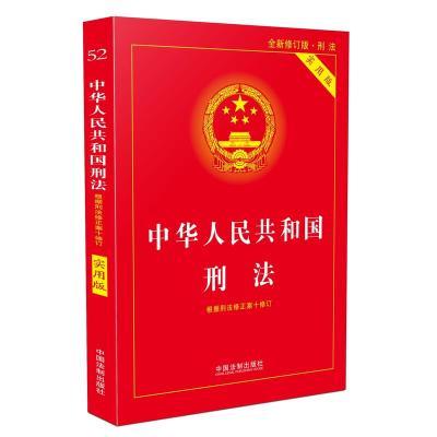 中華人民共和國刑法實用版(根據刑法修正案十 全新修訂 第八版)